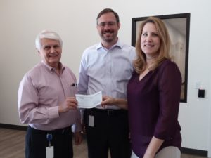 Westmed presents check to American Red Cross