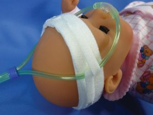 Neo Peds - Neonatal Strapette with small tube tackles, CP-4220 - Pediatric Strapette with small tube tackles for cannulas
